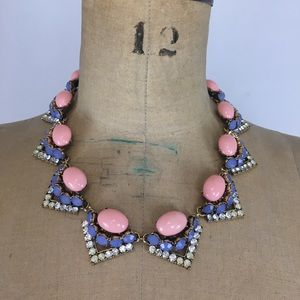 Aldo Enamel and Crystal Statement Necklace